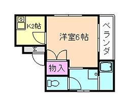 大阪府豊中市北桜塚1丁目の賃貸マンションの間取り