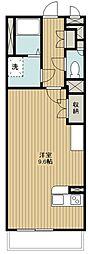 西武新宿線 狭山市駅 徒歩6分の賃貸マンション 3階ワンルームの間取り