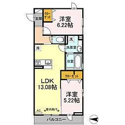 仮)D−room東尾久[2階]の間取り