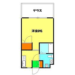神奈川県横浜市神奈川区上反町1丁目の賃貸マンションの間取り