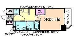 リーガル京町堀II[6階]の間取り