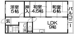 八坂一番館[2階]の間取り