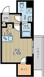 ARKMARK上北沢 4階ワンルームの間取り