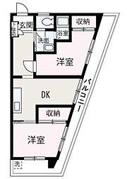 埼玉県和光市下新倉3丁目の賃貸マンションの間取り