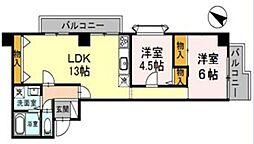 埼玉県さいたま市緑区東浦和2丁目の賃貸アパートの間取り