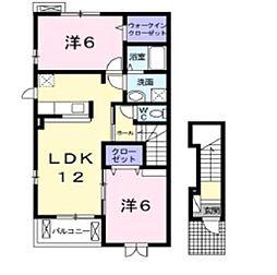 岡山県倉敷市東塚5の賃貸アパートの間取り