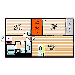 滋賀県彦根市正法寺町の賃貸マンションの間取り