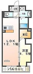 仮)本町新築マンション 3階1LDKの間取り
