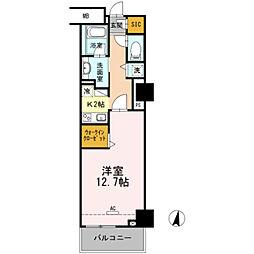 豊橋鉄道東田本線 駅前大通駅 徒歩7分の賃貸マンション 4階1Kの間取り