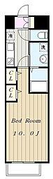 京王線 調布駅 徒歩5分の賃貸マンション 9階1Kの間取り