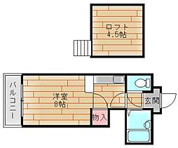 コスモレジデンス北加賀屋II[6階]の間取り