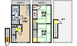 [テラスハウス] 大阪府大阪市城東区中央1丁目 の賃貸【/】の間取り