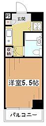エルニド久米川[5階]の間取り