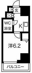 スパシエ八王子クレストタワー 2階1Kの間取り