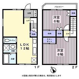 ドルチェ駒沢 1階2LDKの間取り