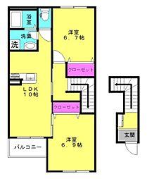 仮)本町新築アパート[202号室]の間取り