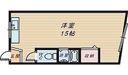 大阪府堺市堺区東湊町5丁の賃貸マンションの間取り