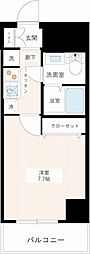 都営新宿線 一之江駅 徒歩9分の賃貸マンション 6階1Kの間取り