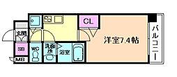 大阪WESTレジデンス[2階]の間取り