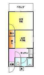アパートメント日高[2階]の間取り