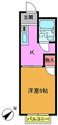 ハイツHIRO[302号室]の間取り