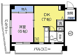 CITY高田馬場[5階]の間取り