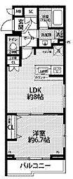 JR中央線 西荻窪駅 徒歩11分の賃貸マンション 2階1LDKの間取り