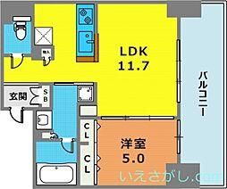 ワコーレ ザ・神戸トアロード[416号室]の間取り
