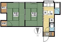 横嶋アパート[2階]の間取り