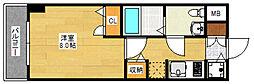 ピュアドームエクセル博多[4階]の間取り