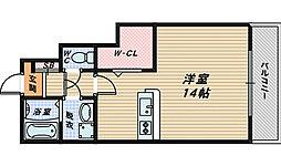 大阪府高石市西取石1丁目の賃貸アパートの間取り