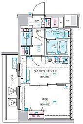 GENOVIA 練馬春日町 skygarden 6階1DKの間取り