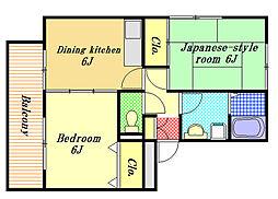サニーコート11[2階]の間取り