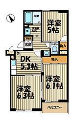 横浜上郷ハイツ[306号室]の間取り