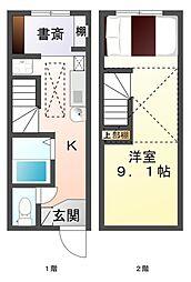 愛知県豊田市堤町宮畔の賃貸アパートの間取り