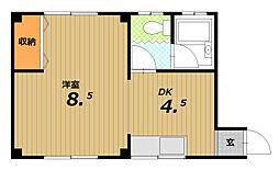 加納マンション[2階]の間取り