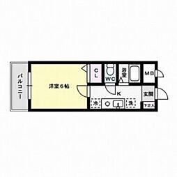 フォルム南福岡[2階]の間取り