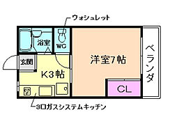 大阪府豊中市曽根西町2丁目の賃貸アパートの間取り