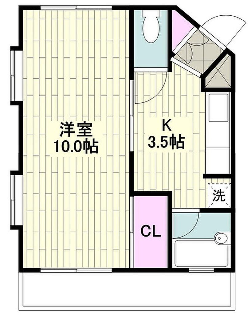 間取り(片瀬江ノ島駅まで徒歩3分のマンションです)
