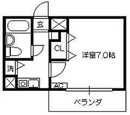 ソナーレ所沢[421号室]の間取り