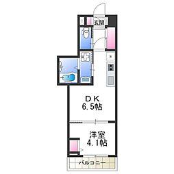 Osaka Metro御堂筋線 あびこ駅 徒歩6分の賃貸マンション 10階1DKの間取り