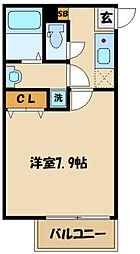 西生田一丁目共同住宅計画(B棟) 1階1Kの間取り