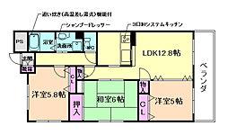 ロイヤルパティオ矢野第三マンション[4階]の間取り