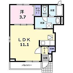エレガンツァ青葉台[1階]の間取り