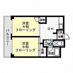 福岡県福岡市中央区清川3丁目の賃貸マンションの間取り