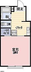 愛知県豊川市御津町西方樋田の賃貸アパートの間取り