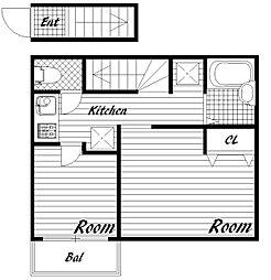 FIRSTBLISS(ファーストブリス)[2階]の間取り