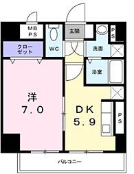 メゾン ド レイ 3階1DKの間取り