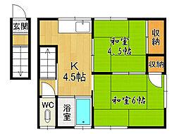 大福荘[8号室]の間取り