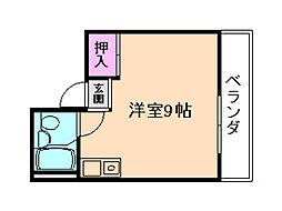 カールハイツ十三[3階]の間取り